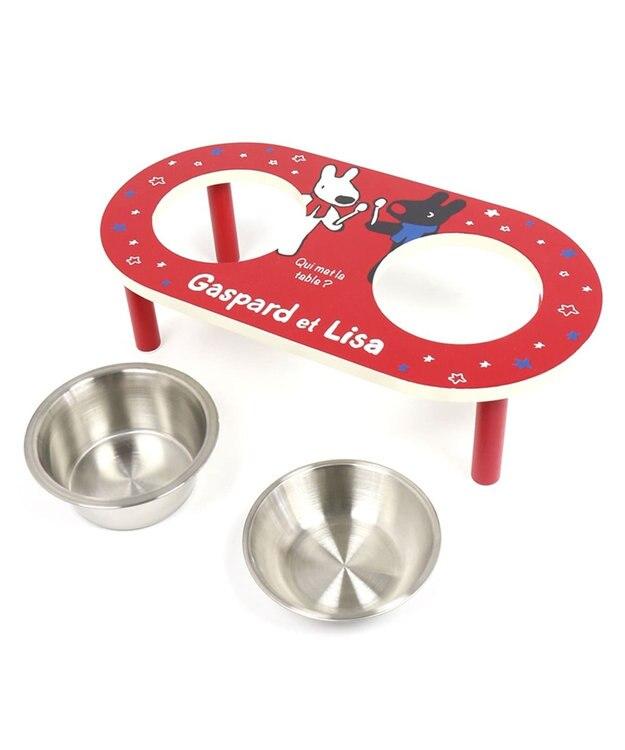 PET PARADISE リサとガスパール ペット用えさ皿 星柄 MDF 2皿タイプ