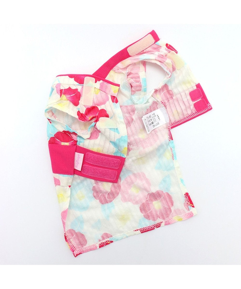 PET PARADISE プリティブーケ 椿ゆかた 浴衣[小型犬] ピンク(濃)