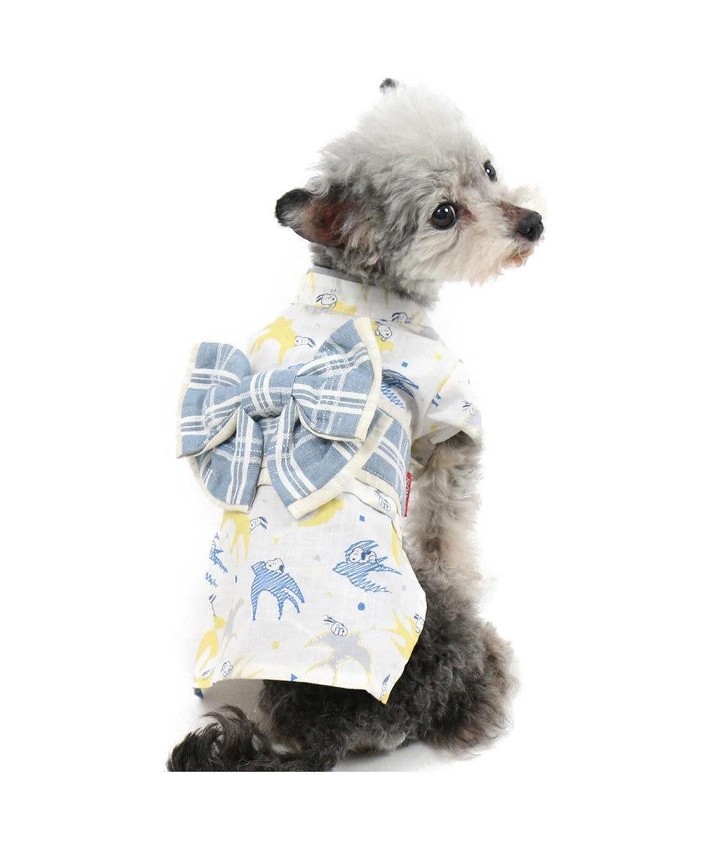 PET PARADISE スヌーピー つばめ浴衣 ゆかた[小型犬] 白~オフホワイト
