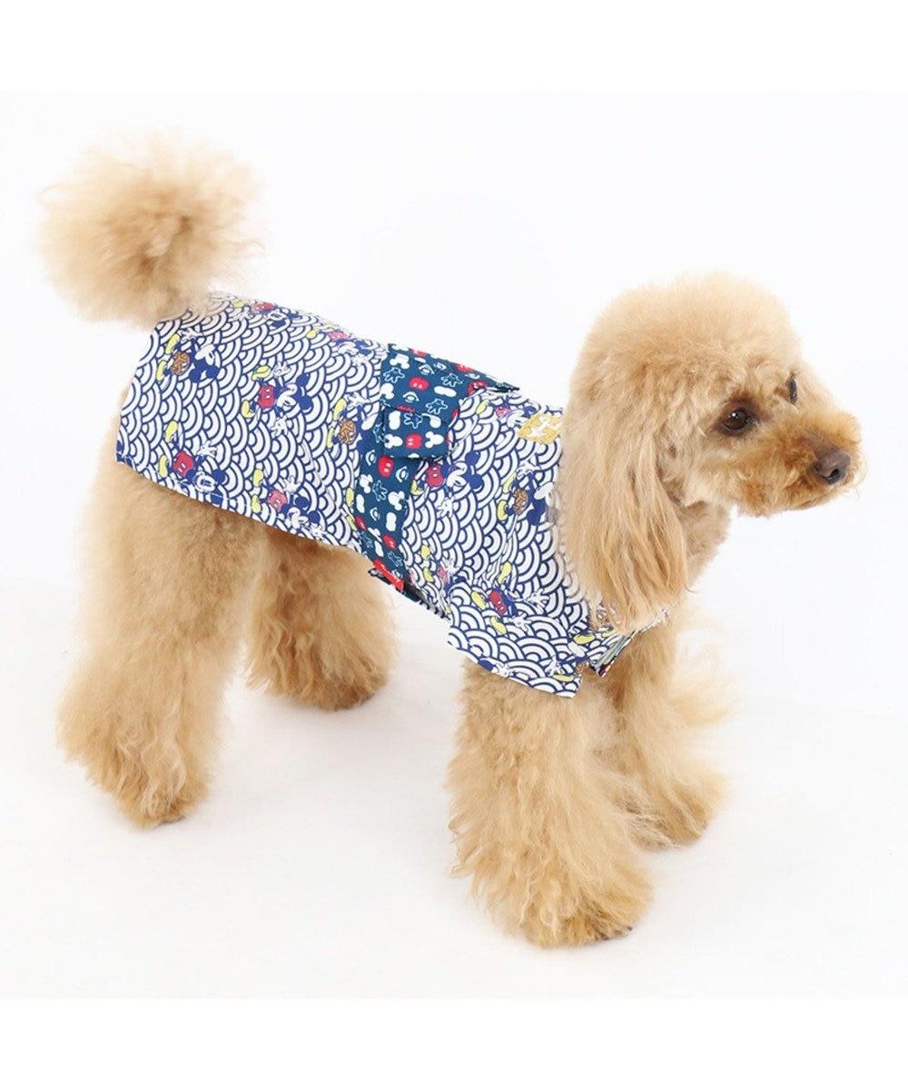 PET PARADISE ディズニー ミッキー波柄浴衣 ゆかた[小型犬] 紺(ネイビー・インディゴ)