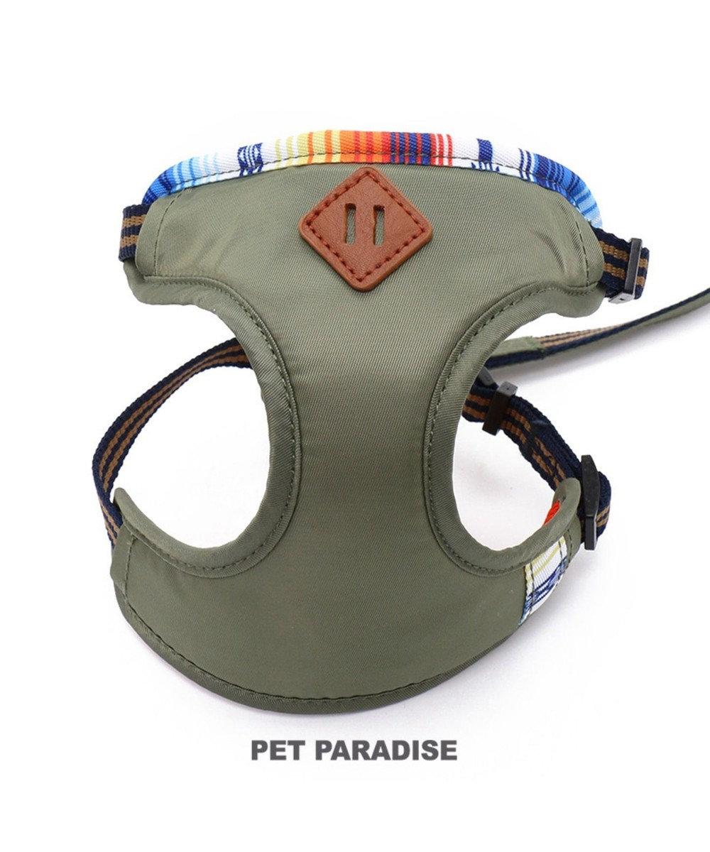 PET PARADISE フィールドグライド リード付きハーネス 4S カーキ