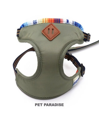 PET PARADISE フィールドグライド リード付きハーネス S カーキ