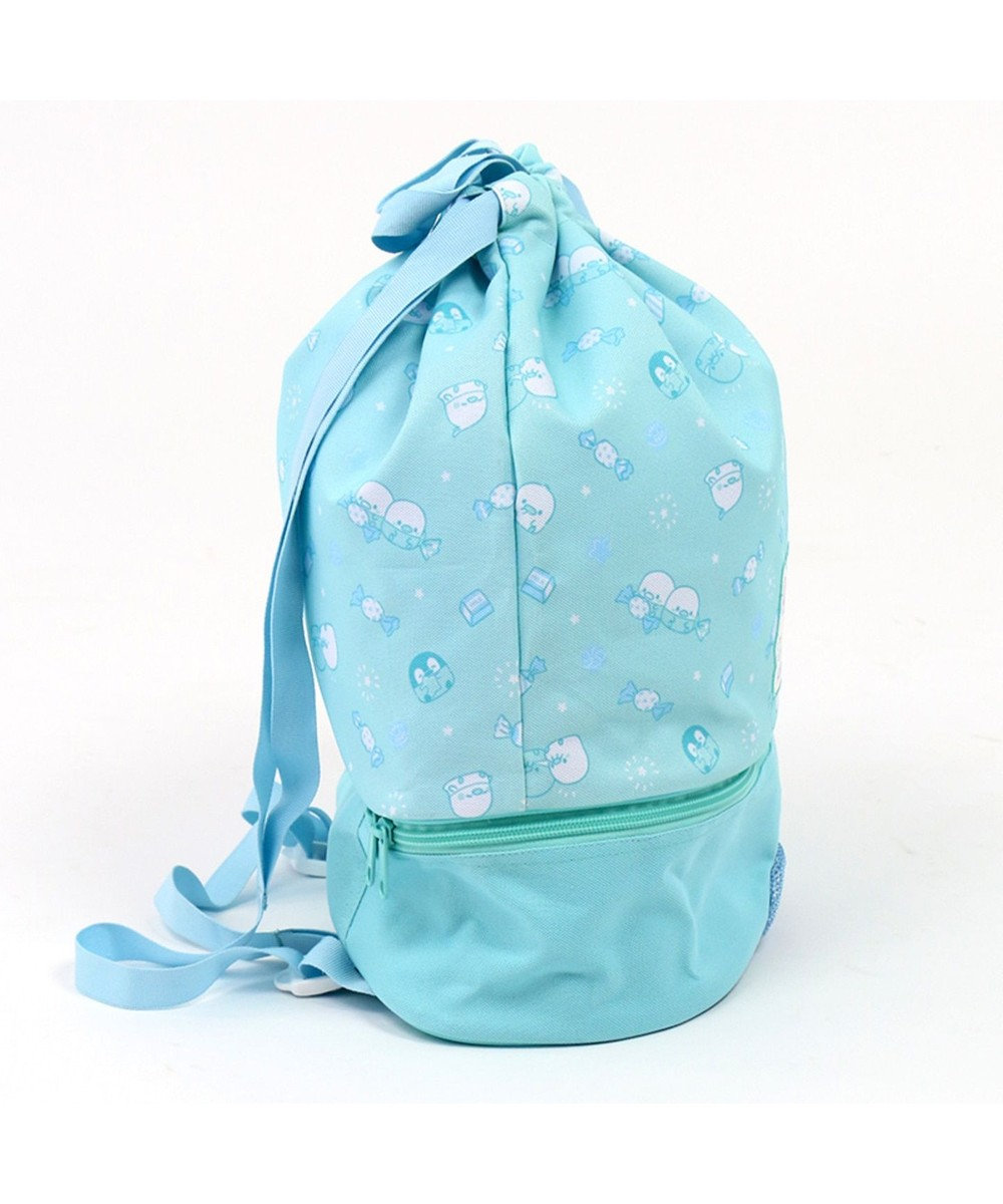 Mother garden こぴよフレンズ プールバッグ水泳バッグ 巾着タイプ プール 水泳 水色