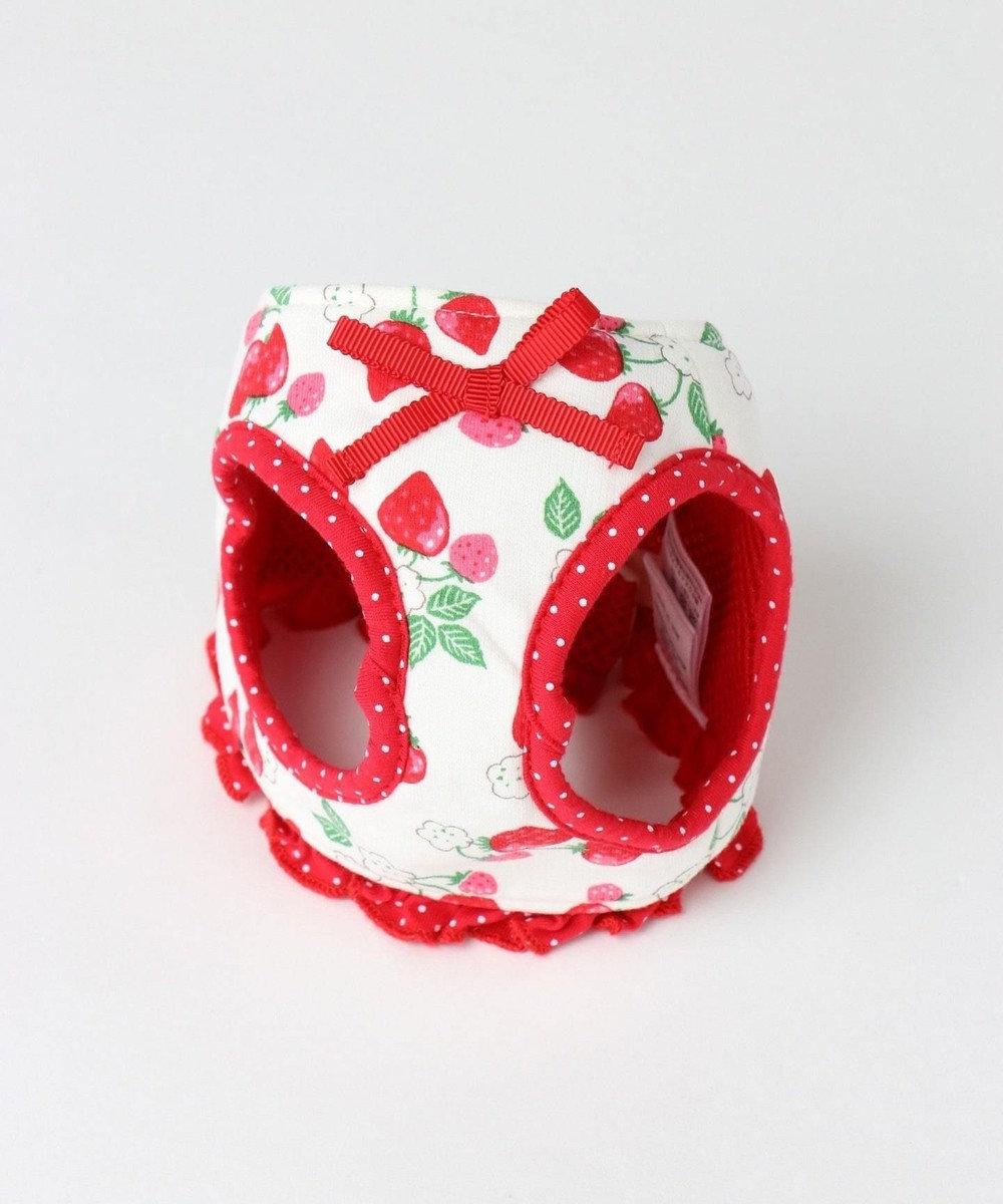 PET PARADISE プリティブーケ ベストハーネス いちご柄 赤 ペットSS 赤