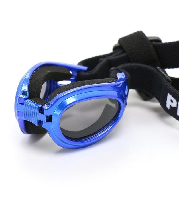 PET PARADISE ペットパラダイス ペット用ゴーグル メタリック(青)