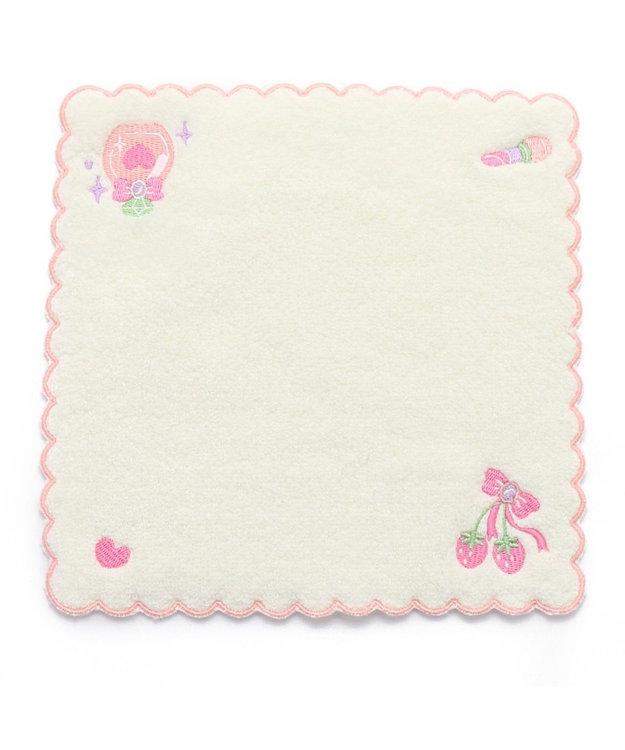 Mother garden マザーガーデン 刺繍タオル ふわふわ ピンク