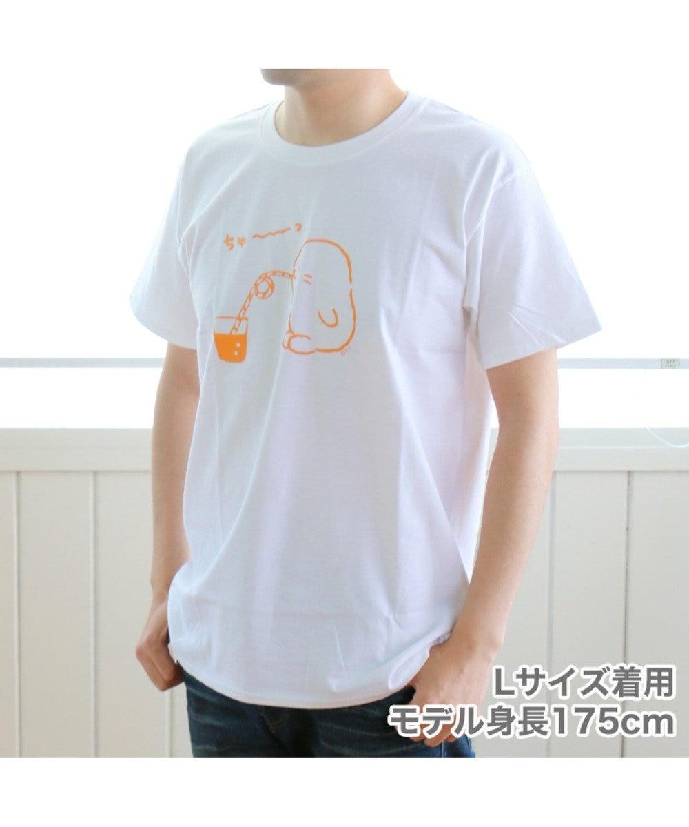 Mother garden ネット店限定!しろたん つぶやきTシャツ ちゅ~っ ユニセックス 白~オフホワイト