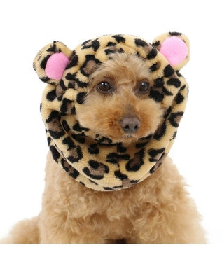 PET PARADISE ペットパラダイス スヌード 豹柄 [小型犬] 黄