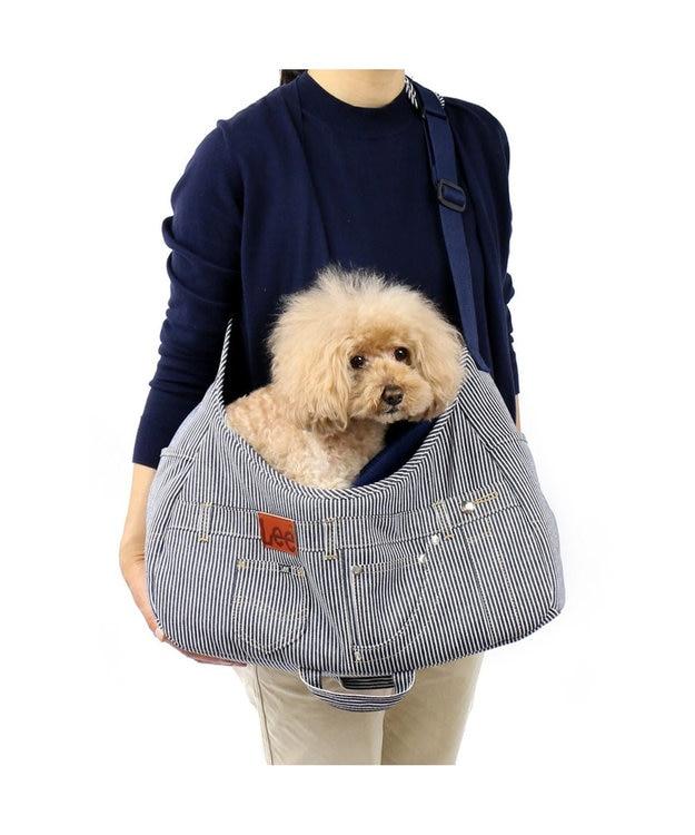PET PARADISE Lee ペットキャリーバッグS パッチワーク ヒッコリー〔超小型犬〕