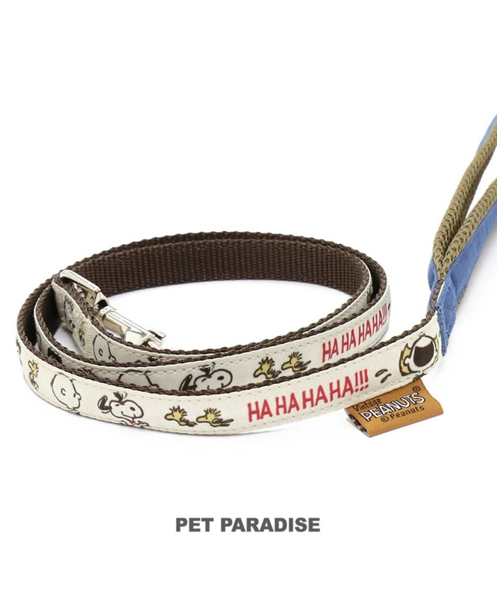 PET PARADISE 犬用品 ペットグッズ お散歩 ペットパラダイス 犬 リード スヌーピー 【SM】ファミリー柄 | 中型犬 おさんぽ おでかけ お出掛け おしゃれ オシャレ かわいい キャラクター 白~オフホワイト