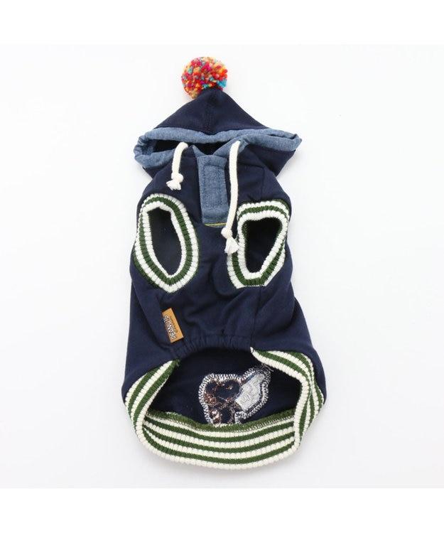 PET PARADISE ペットパラダイス スヌーピーカレッジパーカー紺〔小型犬・超小型犬〕
