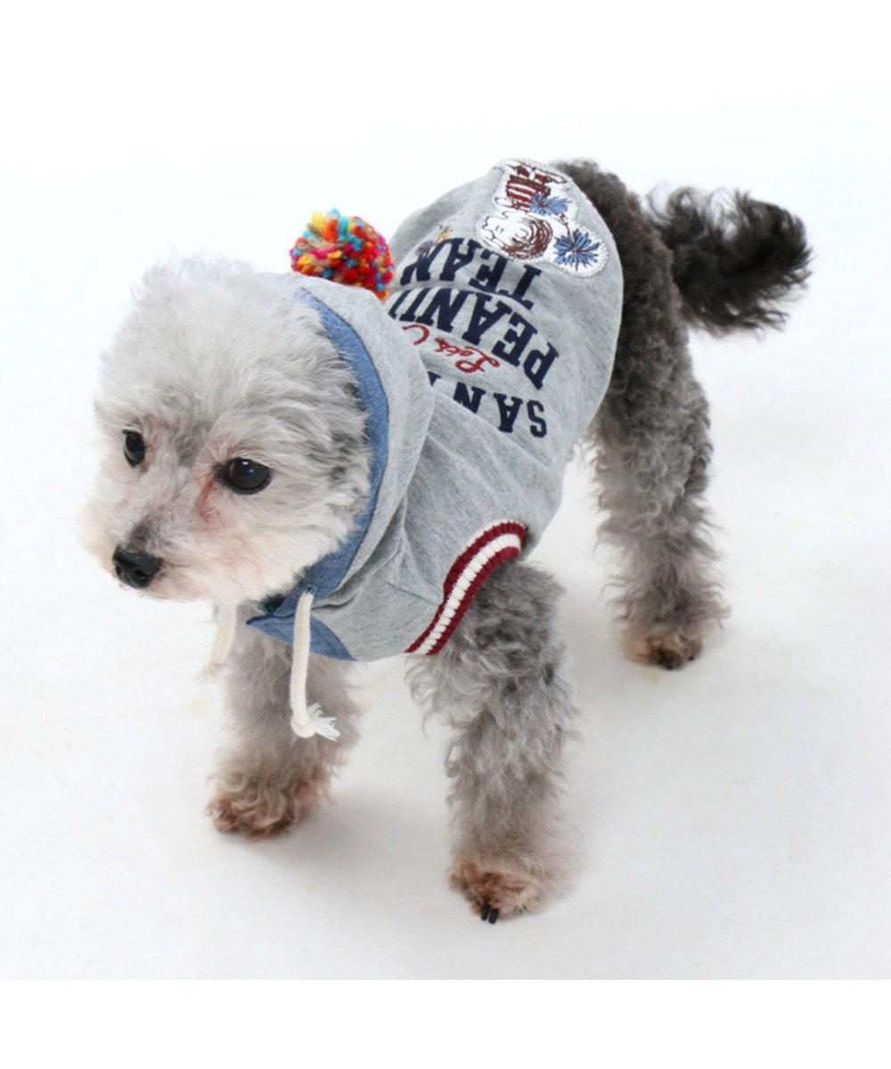 PET PARADISE ペットパラダイス スヌーピーカレッジパーカー灰〔小型犬・超小型犬〕 グレー