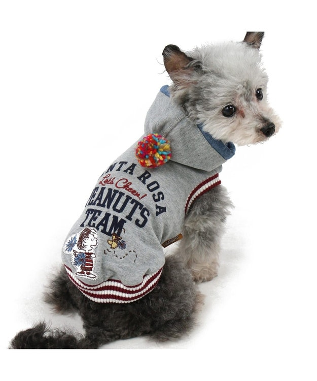 PET PARADISE ペットパラダイス スヌーピーカレッジパーカー灰〔小型犬・超小型犬〕