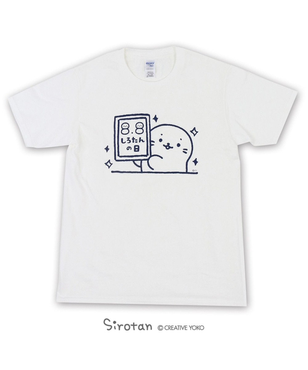 Mother garden しろたん ネット限定 しろたんの日Tシャツ 白 ユニセックス 0