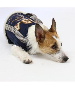 PET PARADISE スヌーピー カレッジ パンツ つなぎ〔小型犬〕 紺(ネイビー・インディゴ)