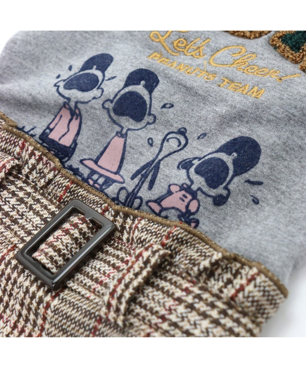 PET PARADISE スヌーピー カレッジ スカート つなぎ〔小型犬〕 グレー