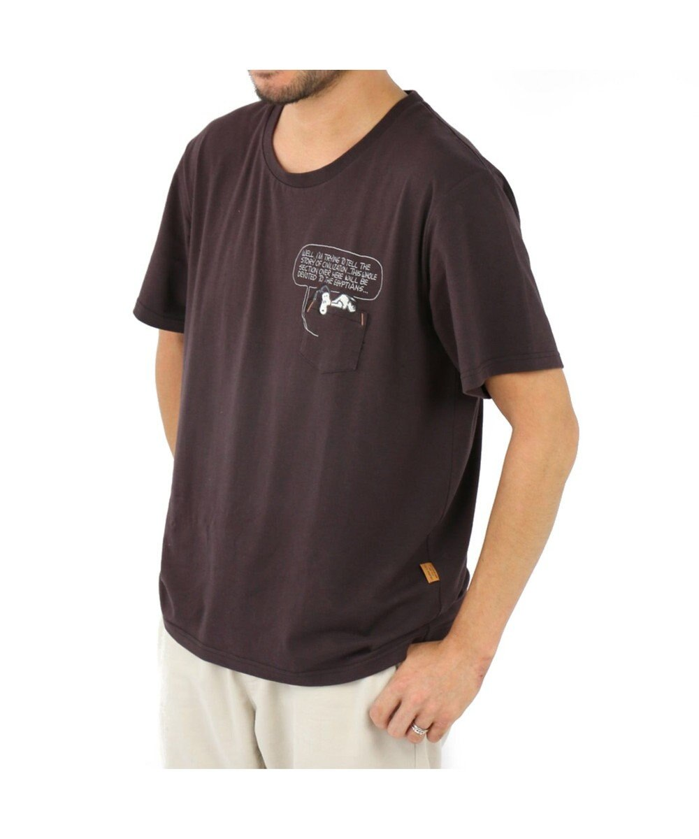 PET PARADISE スヌーピー ハウス お揃い Tシャツ ( オーナー用 )チャコールグレー 半袖 チャコールグレー