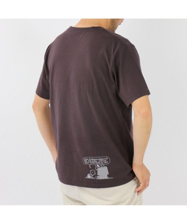 PET PARADISE スヌーピー ハウス お揃い Tシャツ ( オーナー用 )チャコールグレー 半袖