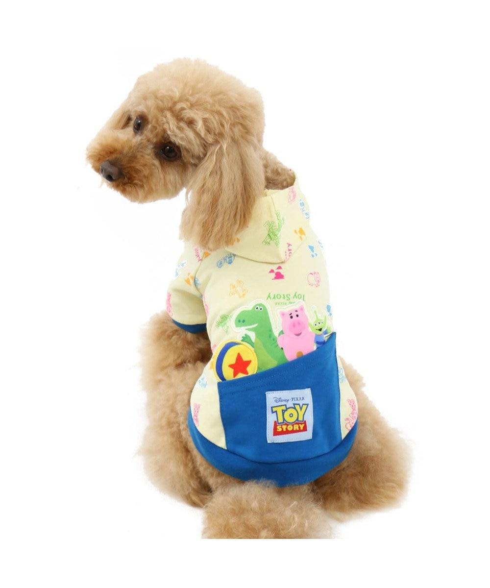 PET PARADISE ディズニー トイストーリー ポップ総柄 パーカー〔小型犬・超小型犬〕 白~オフホワイト