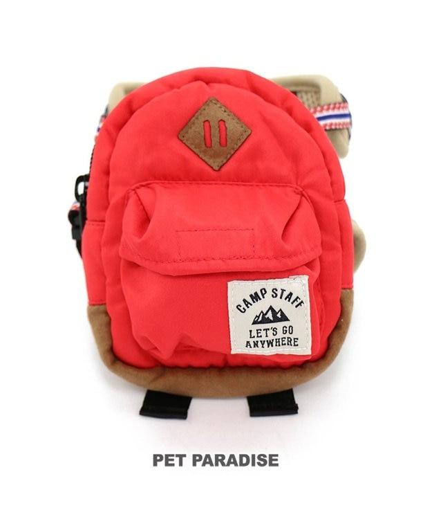 PET PARADISE ペットパラダイス リュック付き ハーネス 赤 ペット3S