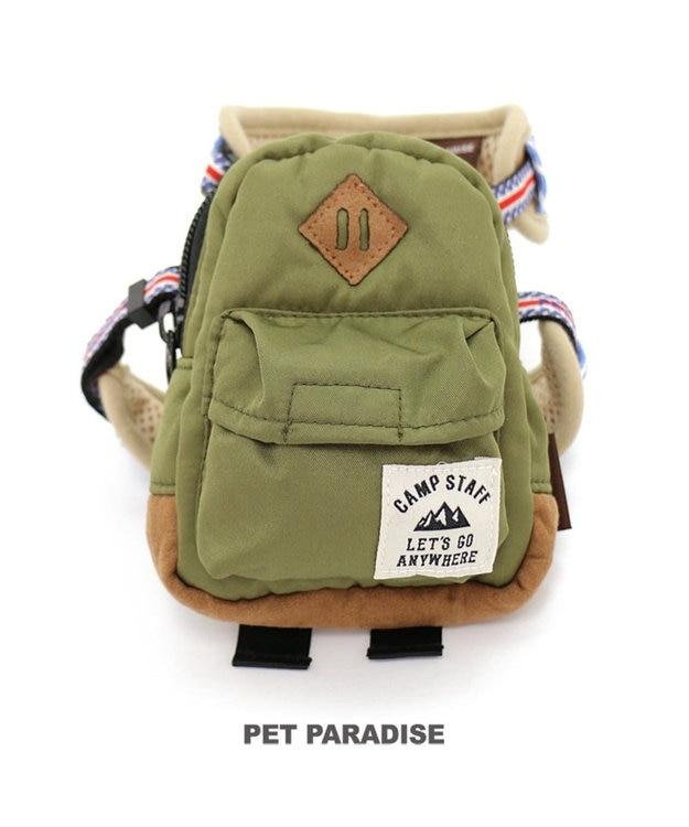 PET PARADISE ペットパラダイス リュック付き ハーネス 紺 ペットS