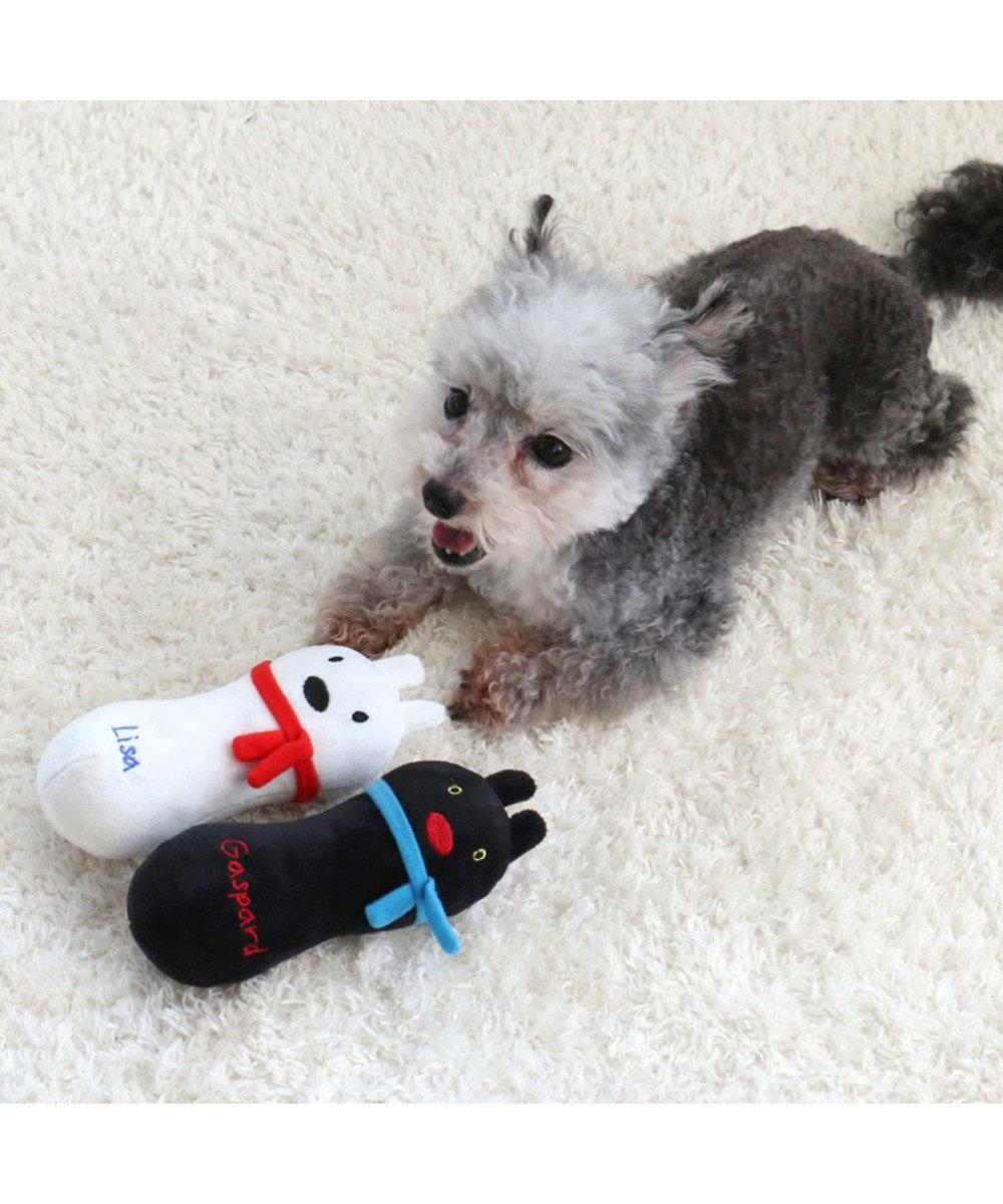 PET PARADISE リサとガスパール  犬用おもちゃ にぎにぎ トイ リサ 白~オフホワイト