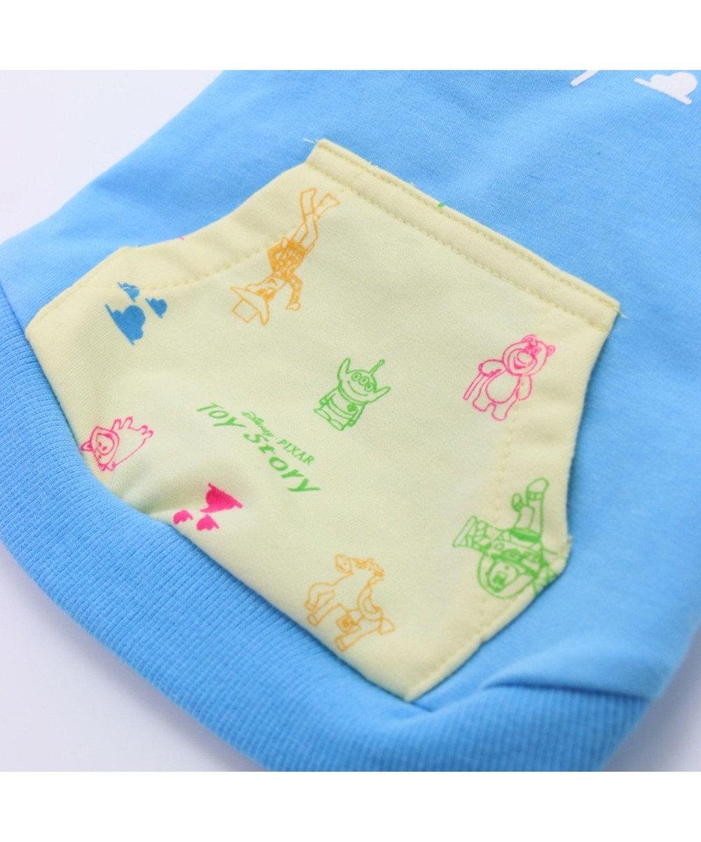 PET PARADISE ディズニー トイストーリー バッジ パーカー〔小型犬〕 水色