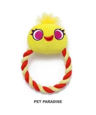 PET PARADISE ディズニー トイストーリー 犬用おもちゃ ダッキー  ロープトイ 黄