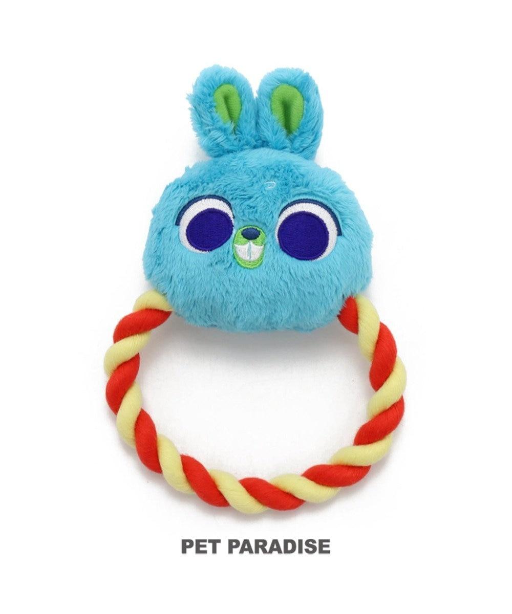 PET PARADISE ディズニー トイストーリー 犬用おもちゃ バニー  ロープトイ 水色