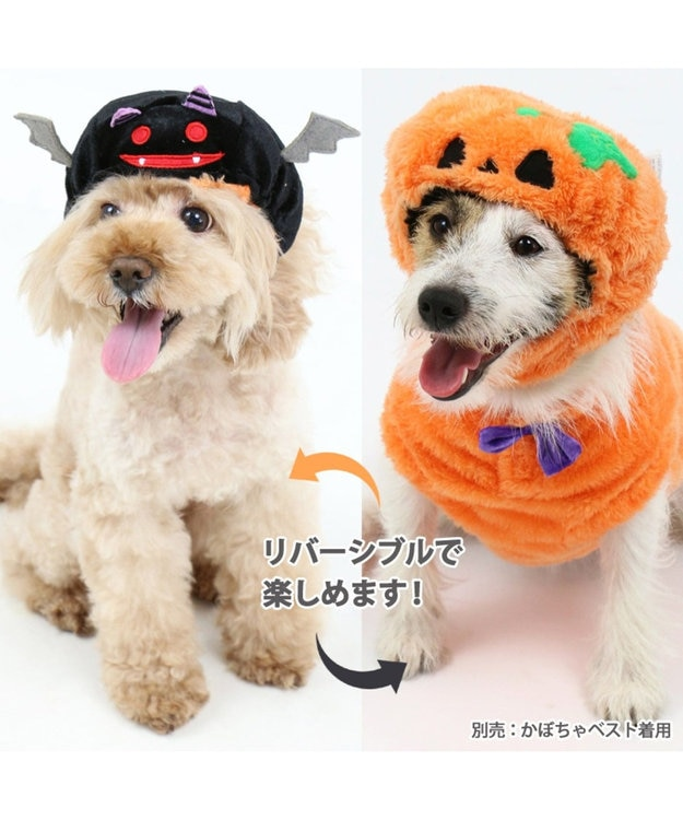 PET PARADISE ペットパラダイス かぼちゃ こうもり 帽子〔小型犬〕