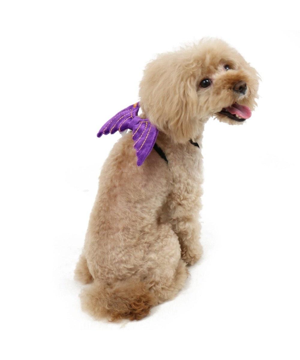 PET PARADISE ペットパラダイス ハロウィン 悪魔の羽 ゴム〔小型犬〕 紫