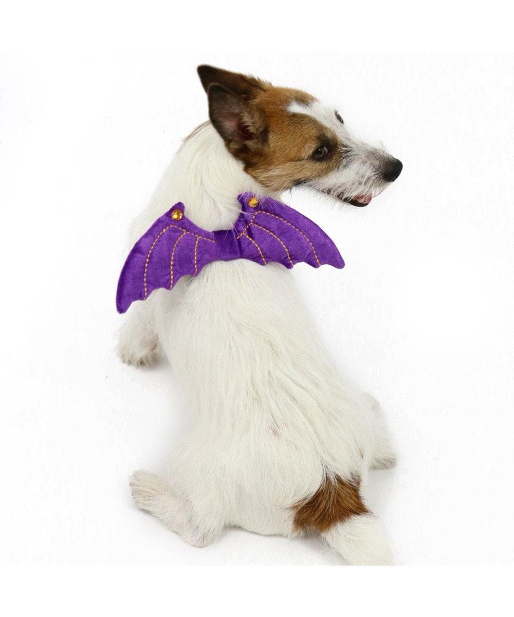 PET PARADISE ペットパラダイス ハロウィン 悪魔の羽 ゴム〔中型犬〕 紫