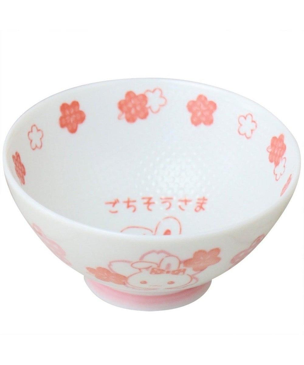Mother garden うさもも くっつきにくい お茶碗 子ども用 花柄 0