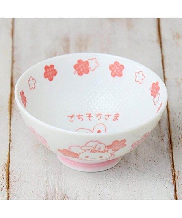 Mother garden うさもも くっつきにくい お茶碗 子ども用 花柄