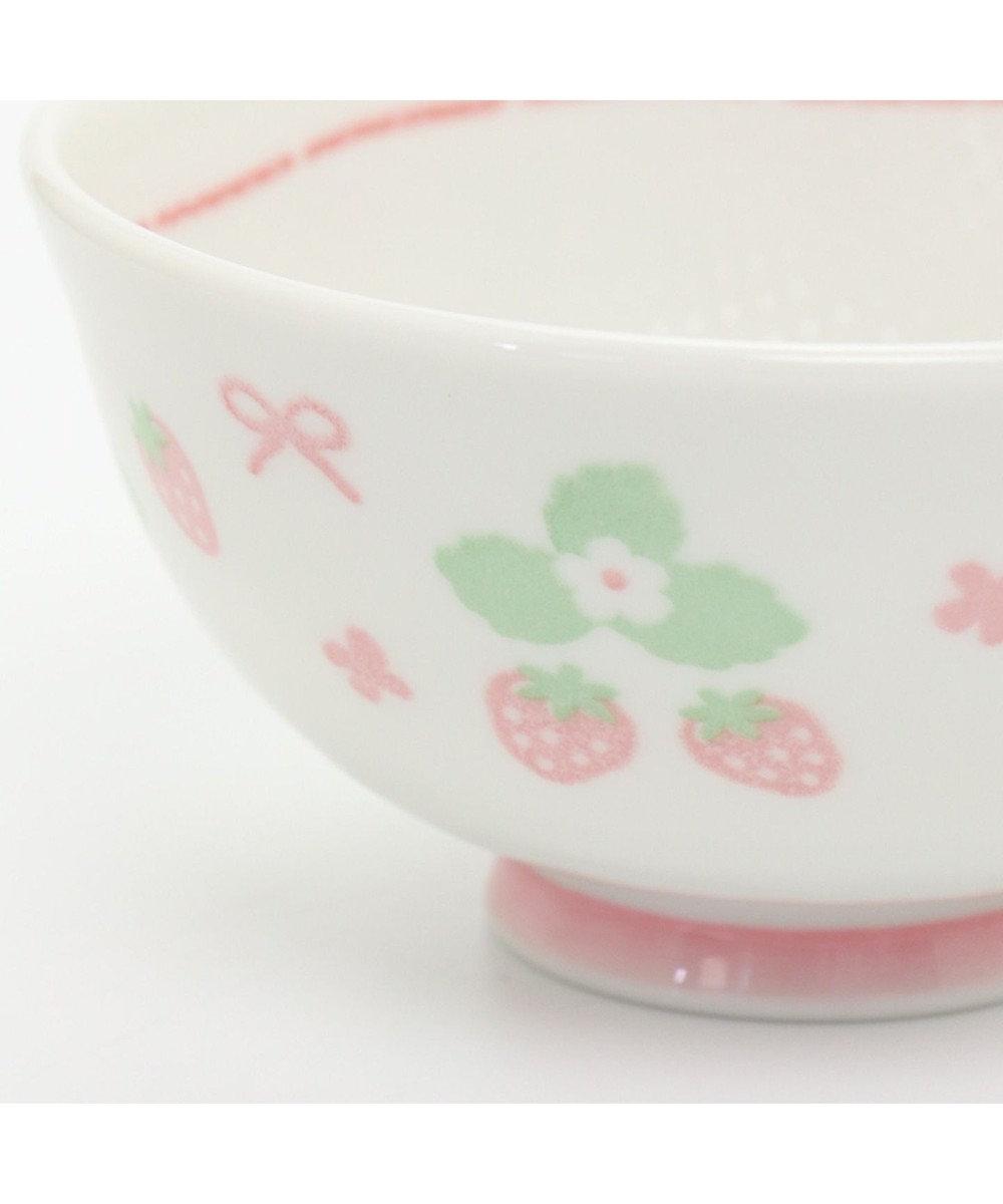 Mother garden マザーガーデン くっつきにくい お茶碗 中 お花柄 ピンク(濃)