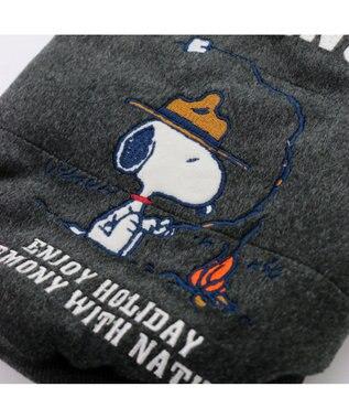 PET PARADISE スヌーピー ニット帽 綿入れ ベスト〔中・大型犬〕 遠赤外線 紺(ネイビー・インディゴ)
