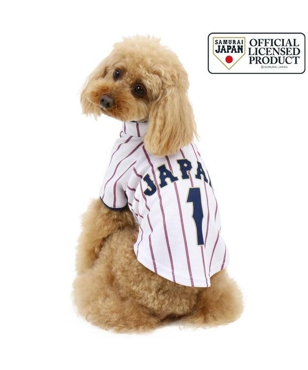 PET PARADISE 野球日本代表侍ジャパン ユニフォーム Tシャツ 白〔小型犬〕