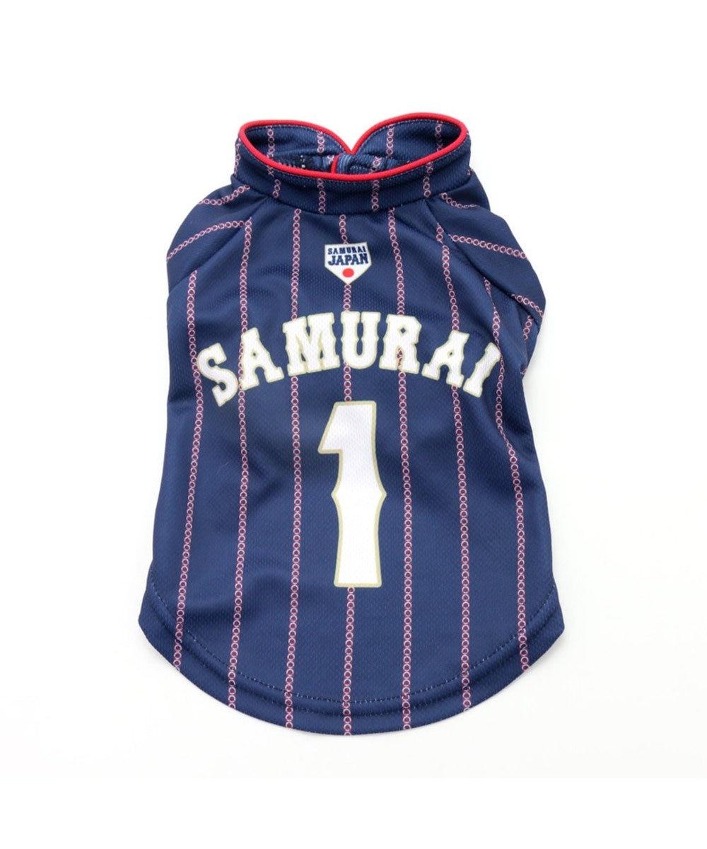 PET PARADISE 野球日本代表侍ジャパン ユニフォーム Tシャツ 紺〔小型犬〕 紺(ネイビー・インディゴ)