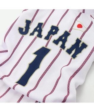 PET PARADISE 野球日本代表侍ジャパン ユニフォーム パンツつなぎ〔小型犬〕 白~オフホワイト