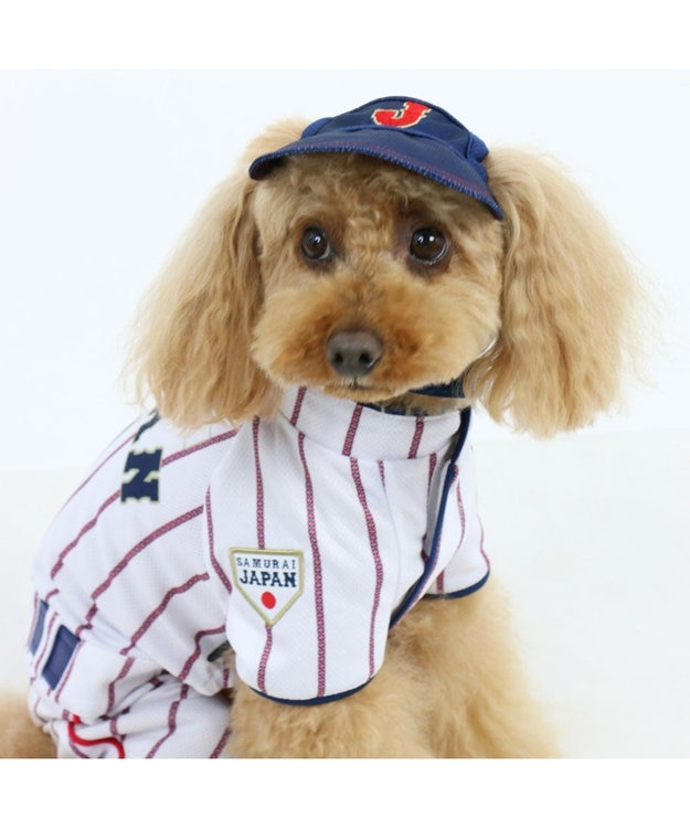 PET PARADISE 野球日本代表侍ジャパン ユニフォーム パンツつなぎ〔小型犬〕