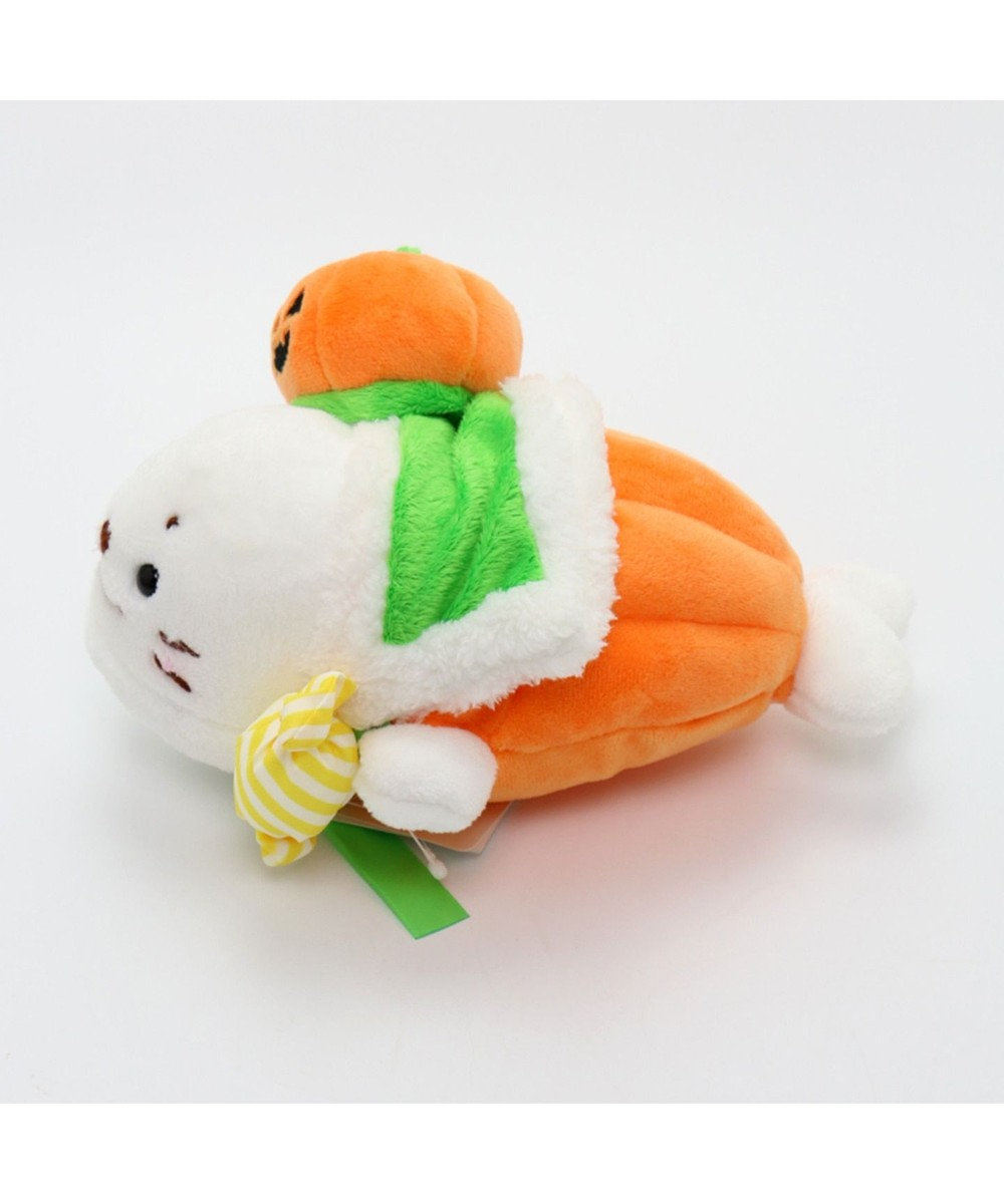 Mother garden しろたん ぬいぐるみ マスコット 22cm《ハロウィン かぼちゃの王様》 オレンジ