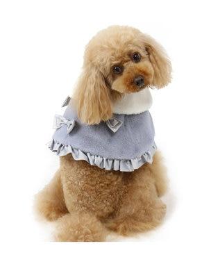 PET PARADISE ペットパラダイス リボン ファー ケープ グレー〔小型犬〕 グレー