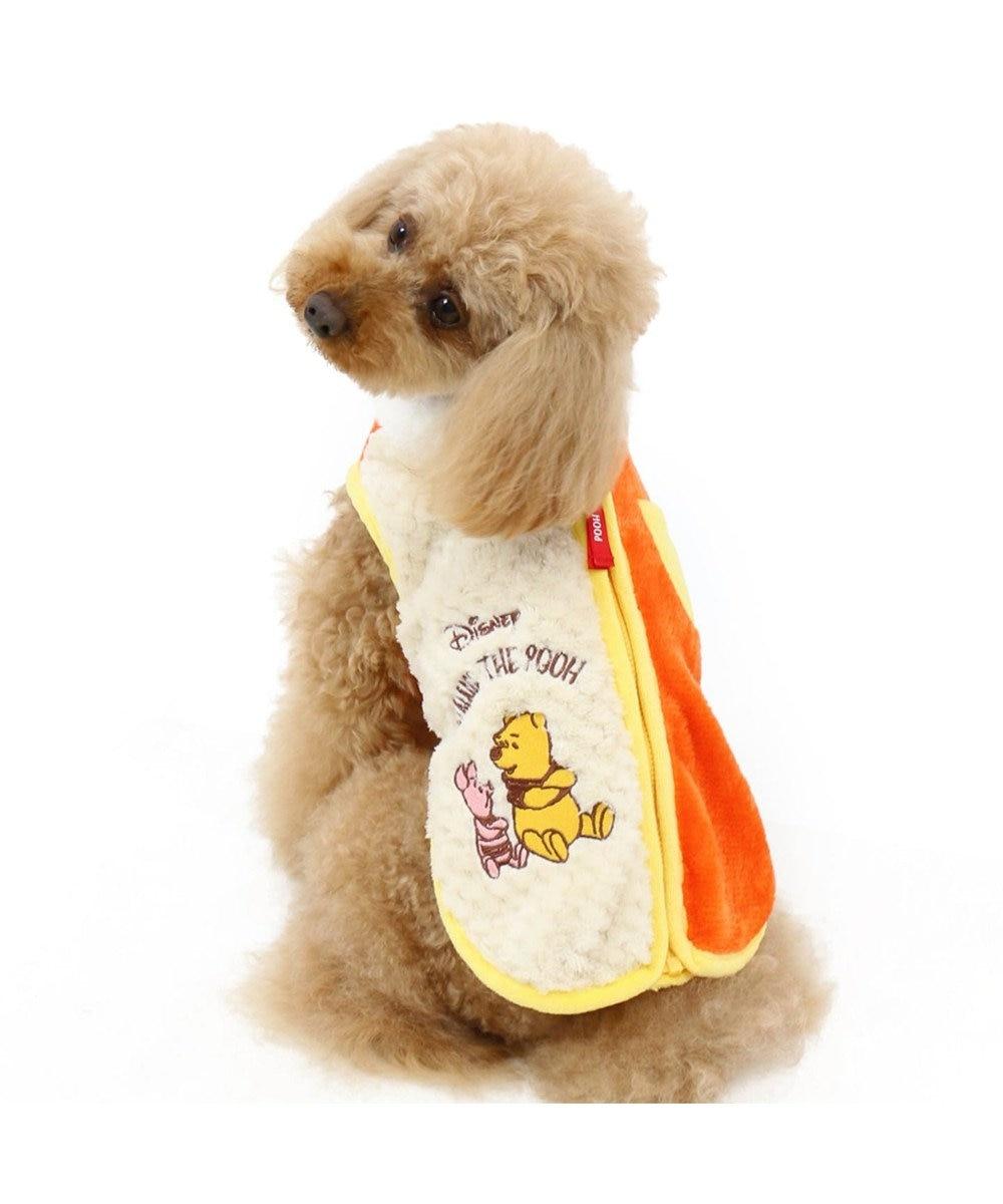 PET PARADISE ディズニー くまのプーさん ボア 仲良し ベスト〔小型犬〕 オレンジ