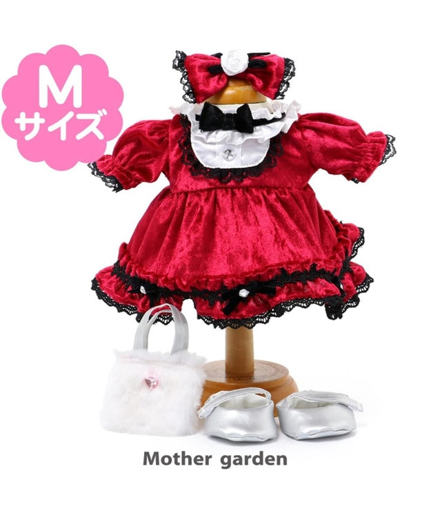 Mother garden うさもも マスコット用きせかえ服M クリスマスセット