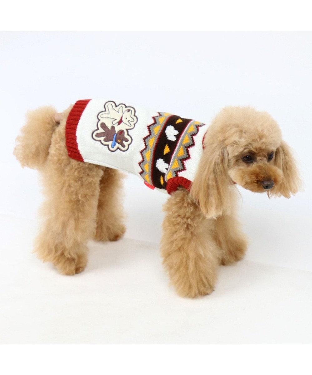 PET PARADISE リサとガスパール カウチン ニット〔小型犬〕 赤