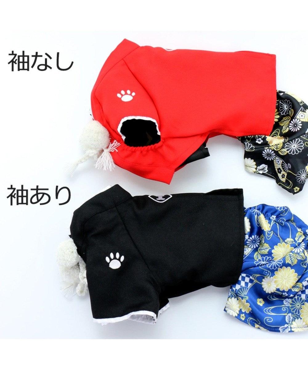 PET PARADISE ペットパラダイス 羽織袴 黒〔小型犬〕 お正月 年賀状 黒