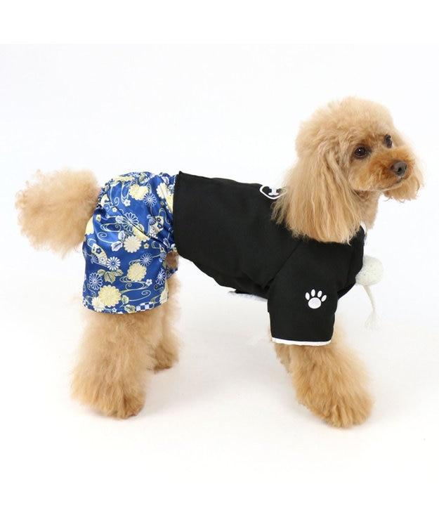 PET PARADISE ペットパラダイス 羽織袴 黒〔小型犬〕 お正月 年賀状