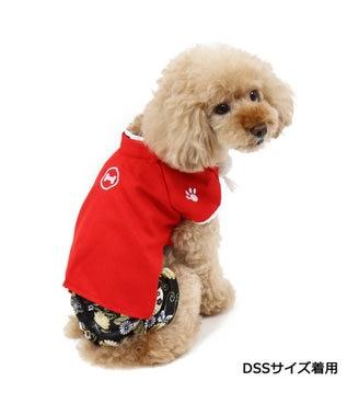 PET PARADISE ペットパラダイス 羽織袴 赤〔小型犬〕 お正月 年賀状 赤
