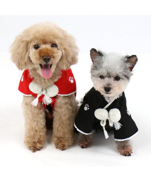 PET PARADISE ペットパラダイス 羽織袴 赤〔小型犬〕 お正月 年賀状
