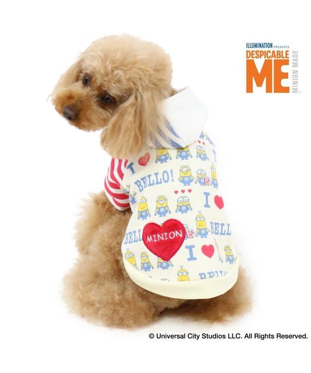 PET PARADISE ミニオン アイラブ パーカー 〔小型犬〕